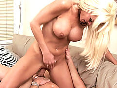Rhylee Richards gets nailed from behind right when she opens the front door.