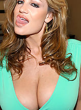 Kelly madison takes a big cock deep in her mouth.