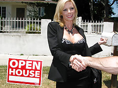 Real Estate Agent MILF whore gets pounded hard at open house!