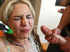 At first she hates what he did to her but then she can't get enough cum in her holes