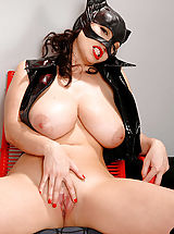 Busty babe Michelle Monaghan dressed as catwoman
