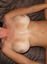 Kelly Madison and Ryan fuck Lucky Benton while she's doing the splits.