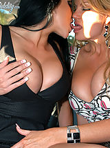Kelly Madison and Audry Bitoni get into hot girl on girl and then get their pussies fucked so hard!
