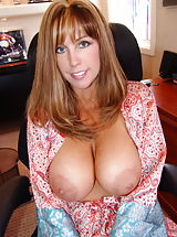 Big Natural Sissy in the office