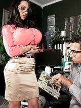 Massive Titty Chick Hittin The Mega-boobed Office Hottie